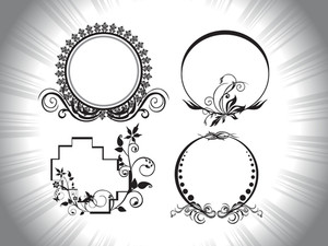 Circle Shap Frames With Artistic Pattern