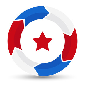 Circle Star Us 4th Of July Independence Day Vector Design