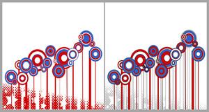 Circles Patriotic Usa Theme Vector