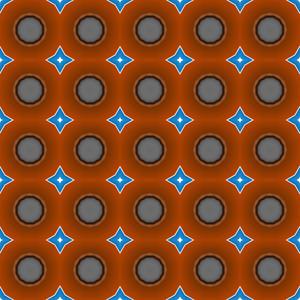 Circles Stars Pattern Bg