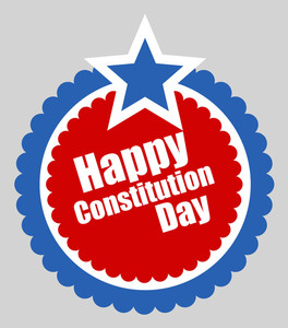 Circular Design  Constitution Day Vector Illustration