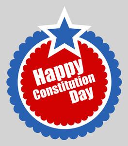 Circular Design  Constitution Day Vector Illustration