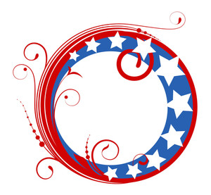 Circular Design Frame Vector 4th Of July Vector Illustration