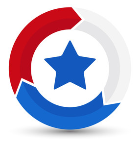 Circular Design Process Icon Us 4th Of July Independence Day Vector Design