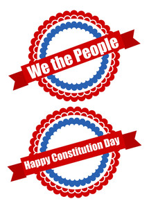 Circular Designs  Constitution Day Vector Illustration