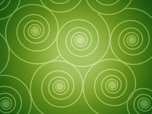 Circular Designs In Green Background