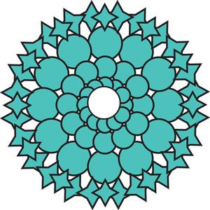 Circular Floral Design