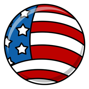 Circular Usa Flag Vector