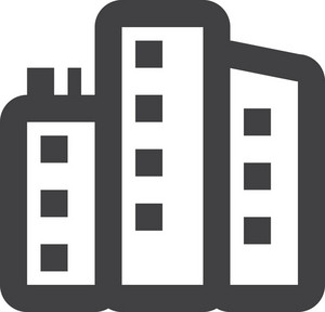 City Buildings Stroke Icon