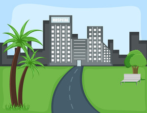 City - Cartoon Background Vector