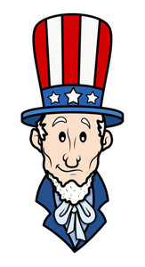 Classic Uncle Sam 4th Of July Vector Illustration