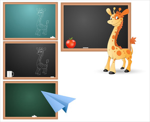 Classroom Board And Concepts Vectors