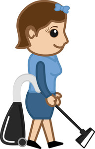 Cleaner - Office Character - Vector Illustration