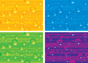 Clear Drops Vector Seamless Texture.