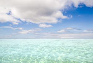 Clear, tropical ocean at dawn