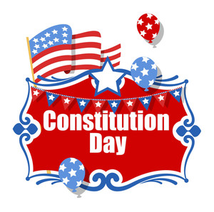 Clebration Banner  Constitution Day Vector Illustration