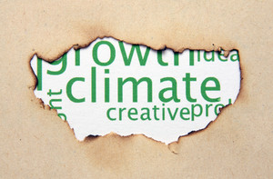 Climate Text On Paper Hole