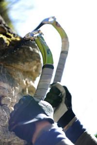 Climbing hook and equipment climbs on top