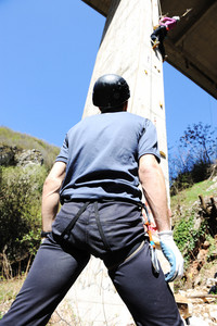 Climbing, man