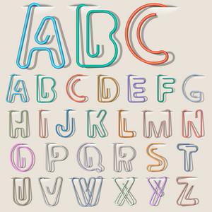 Clipe do alfabeto Papel