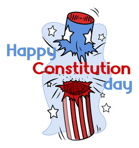 Clipart  Constitution Day Vector Illustration