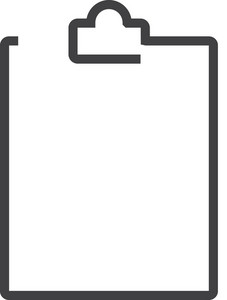 Clipboard 1 Minimal Icon