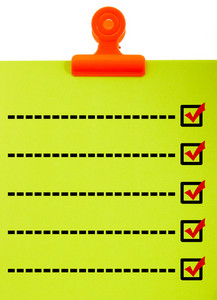 Clipboard With Blank Check List Checked Or Ticked