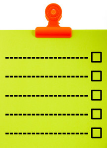 Clipboard With Blank Check List
