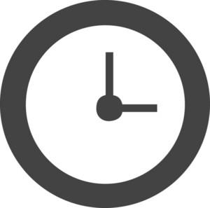 Clock 2 Glyph Icon