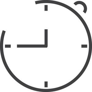 Clock 3 Minimal Icon