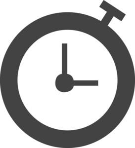 Clock 4 Glyph Icon