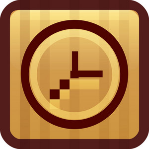 Clockface Brown Tiny App Icon