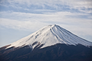 Close up Beautiful Mount Fuji, japan