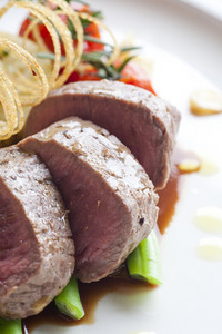 close up Beef medallions