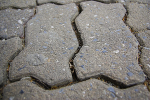 Close up concrete block on floor