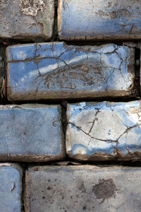 Close up detail of the famous cobble stone lined streets of historic Old San Juan Puerto Rico.