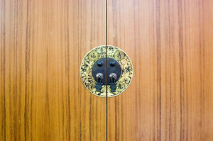 Close-up of a chinese cabinet