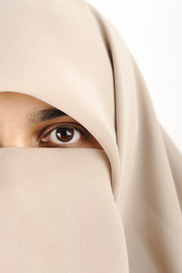Close-up of a woman with hijab