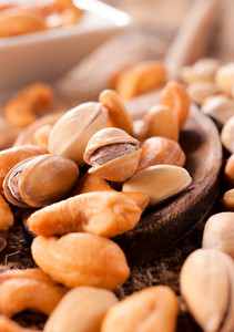 Close Up Of Mixed Nuts