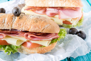 Close Up To Sandwich