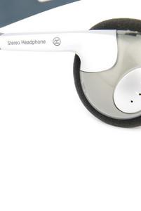 Closeup Of Headphones On White
