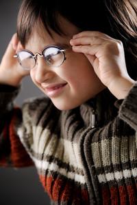 Closeup portrait of cute kid
