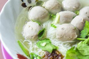 Closeup Thai's style noodle