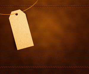Clothes Label On Leather