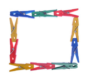 Clothes Pegs Frame