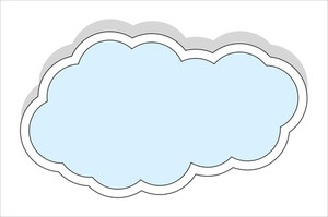Cloud Banner Vector