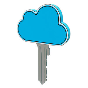 Cloud Computing Key Showing Internet Security