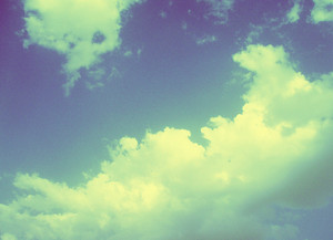 Clouds And Sky In Retro Mood