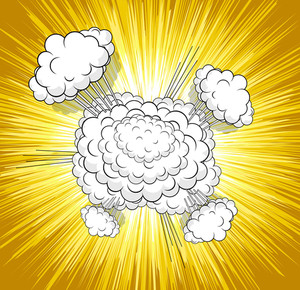 Clouds Burst Background Design