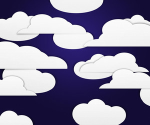 Clouds On Dark Background